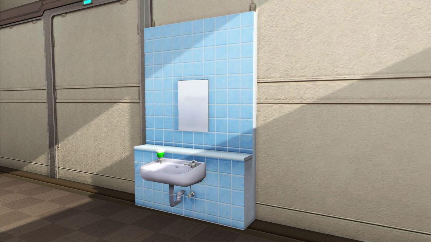 マイルームに設置可能な洗面台。洗面台とは水を流すもの、それ以外の装飾は不要という倹約家に人気の品