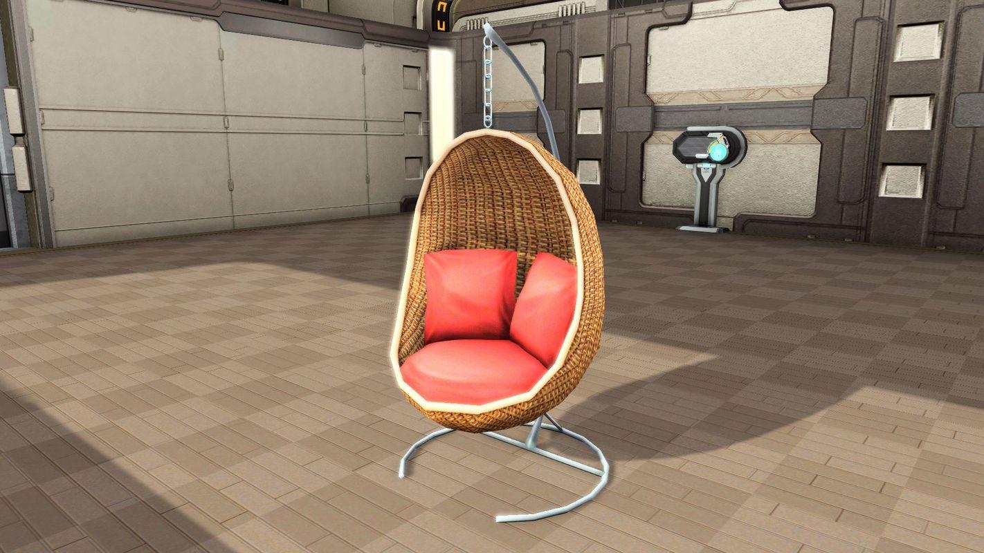 マイルーム配置用の一人掛け椅子。包み込まれるような座り心地と心地よいリズムに時間を忘れてしまう