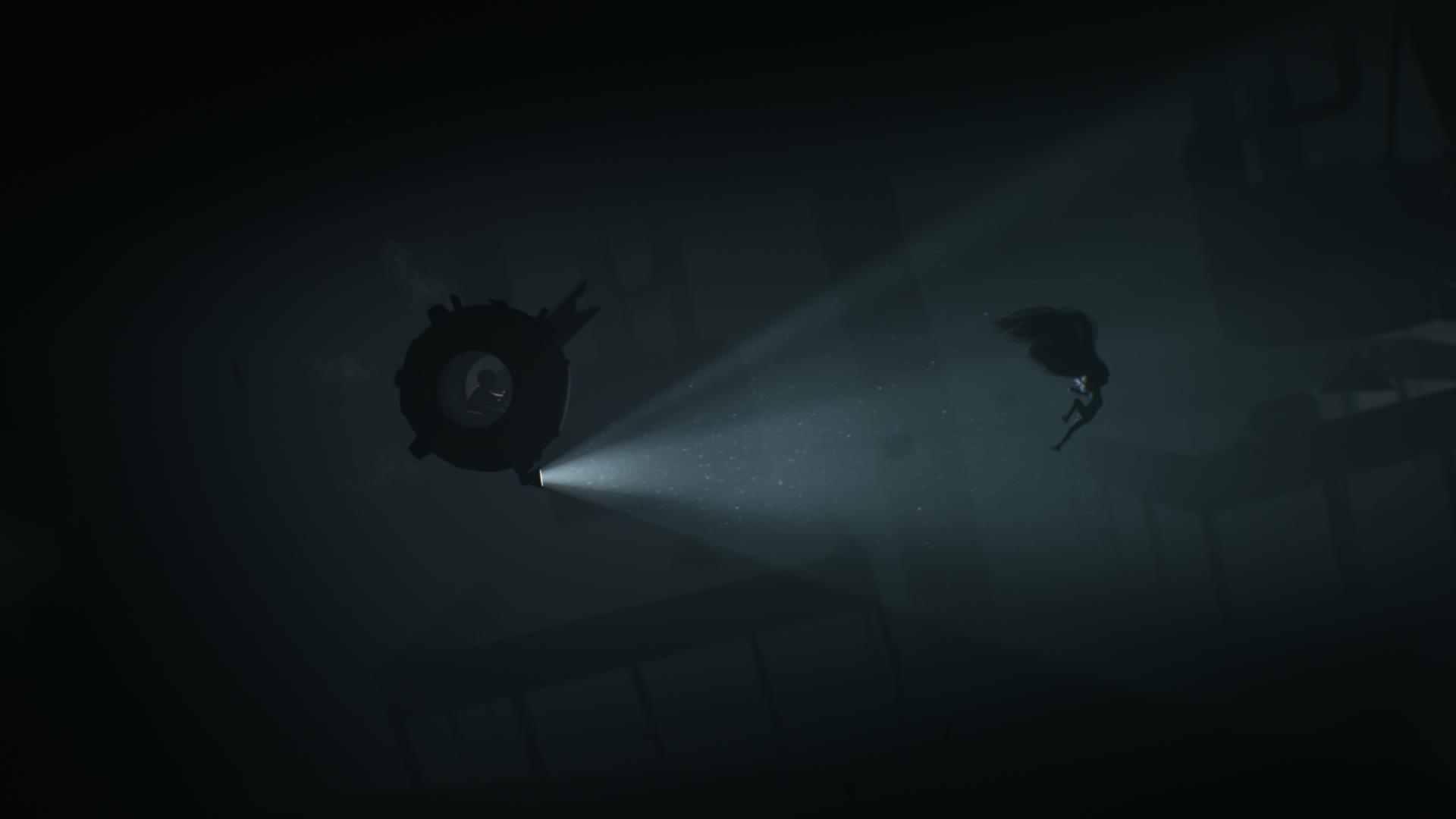 少年は水の中も進んでいく。この奇妙な生物は、苦手な光を外すと、少年の乗る潜水球を一瞬で破壊してしまう