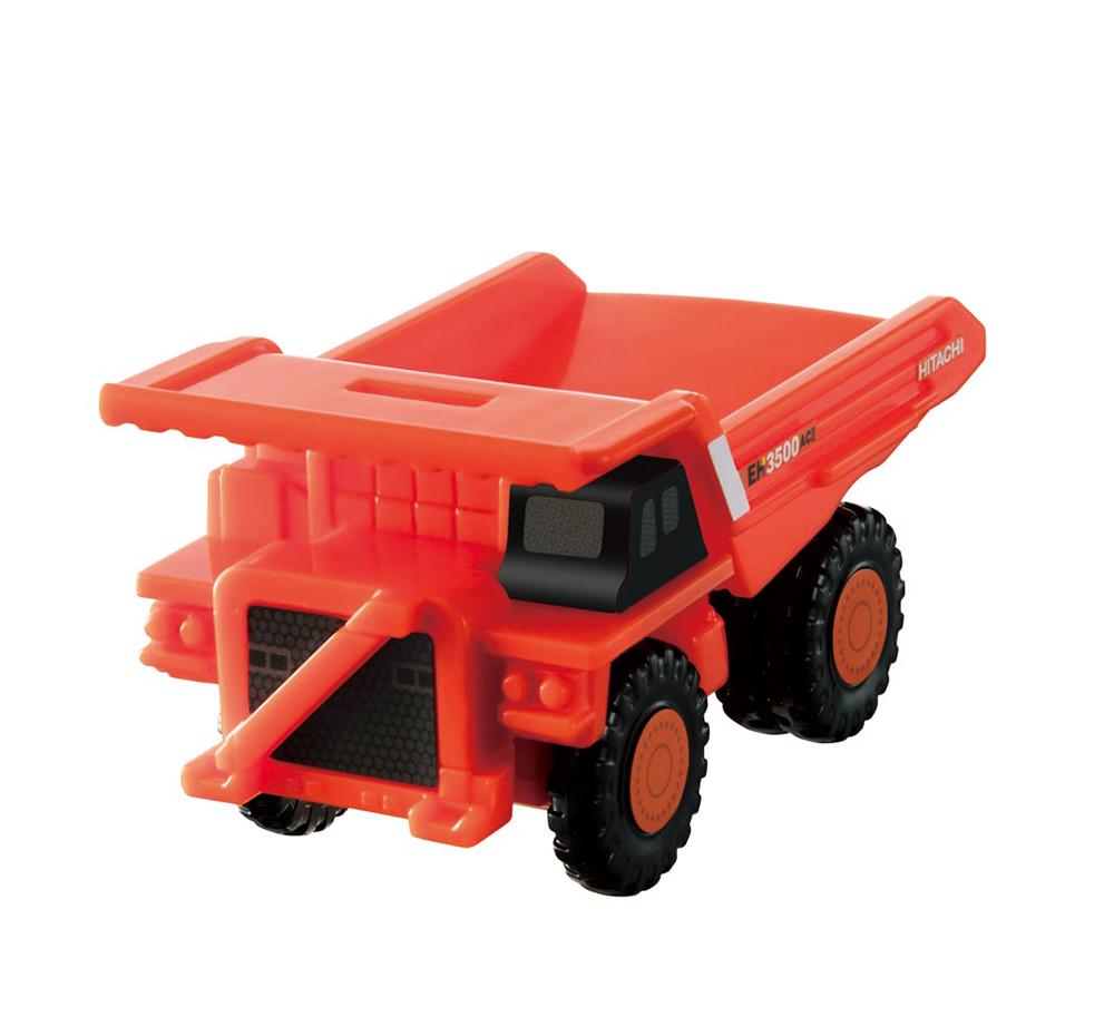 荷台がゆっくりと上がる「日立建機 リジッドダンプトラック」