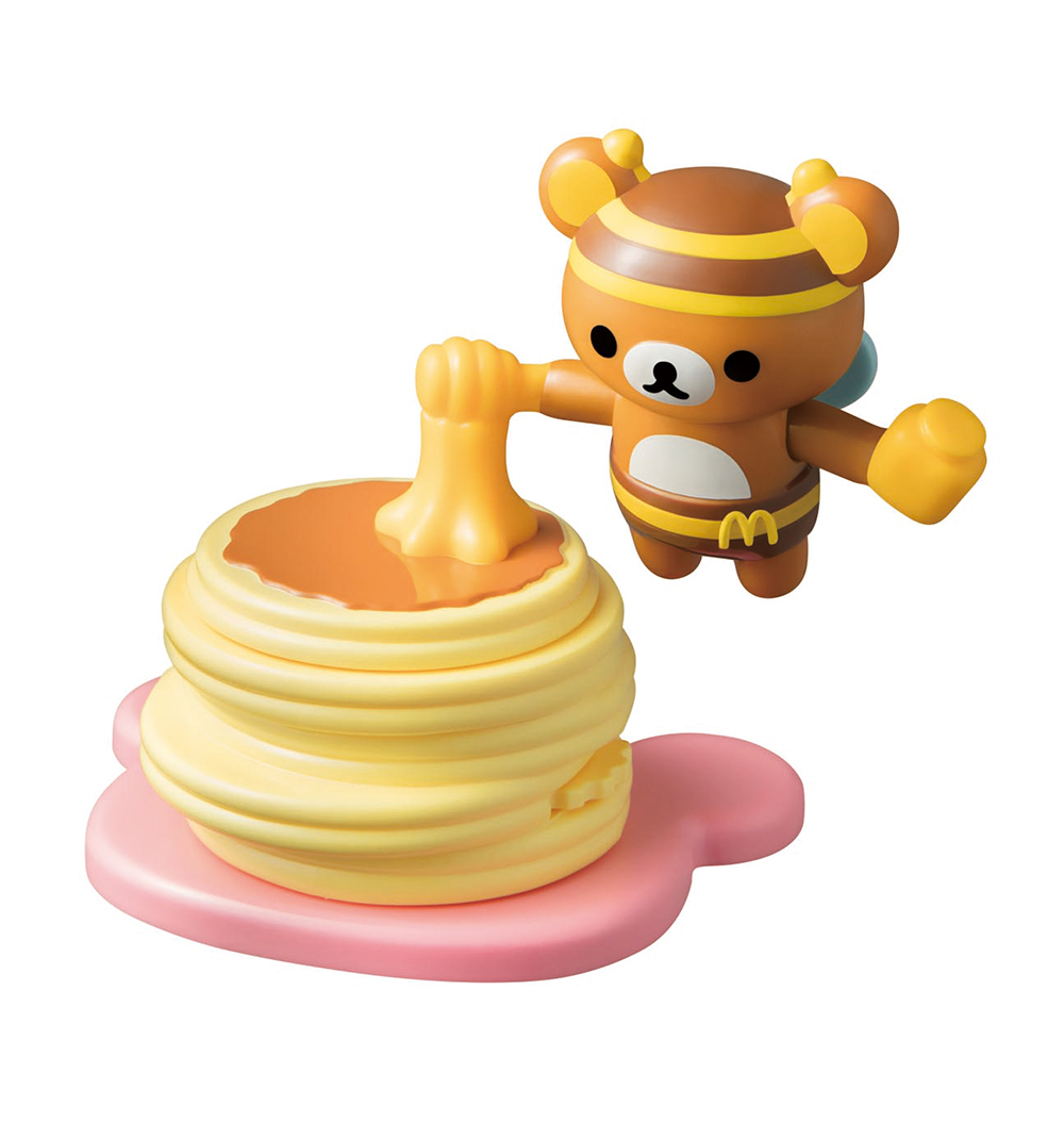 ダイヤルを回すとリラックマとプチパンケーキが回る