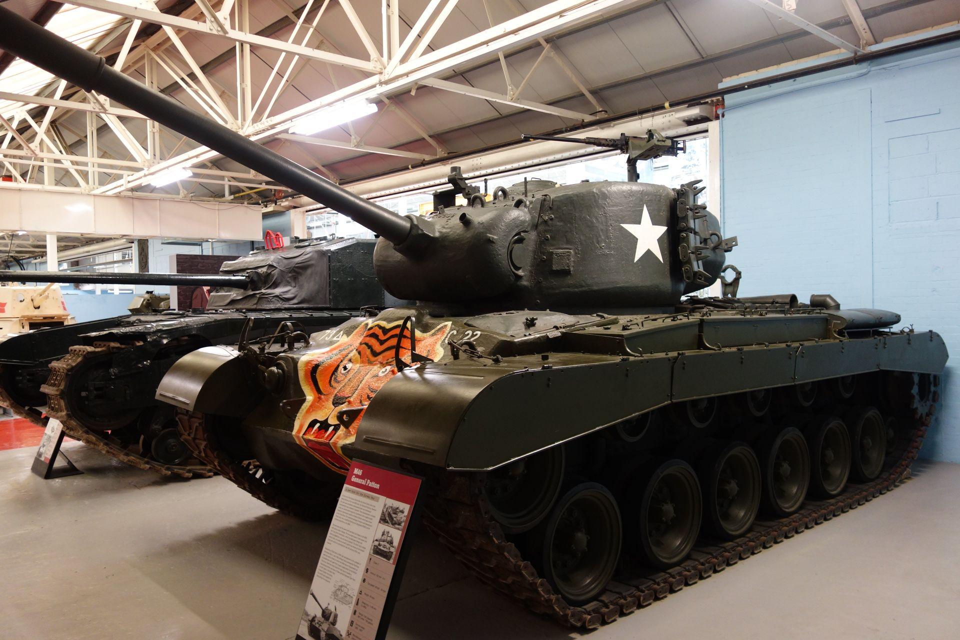 ボービントン戦車博物館にあるユニークな塗装も含めてレストアされたM46 Patton