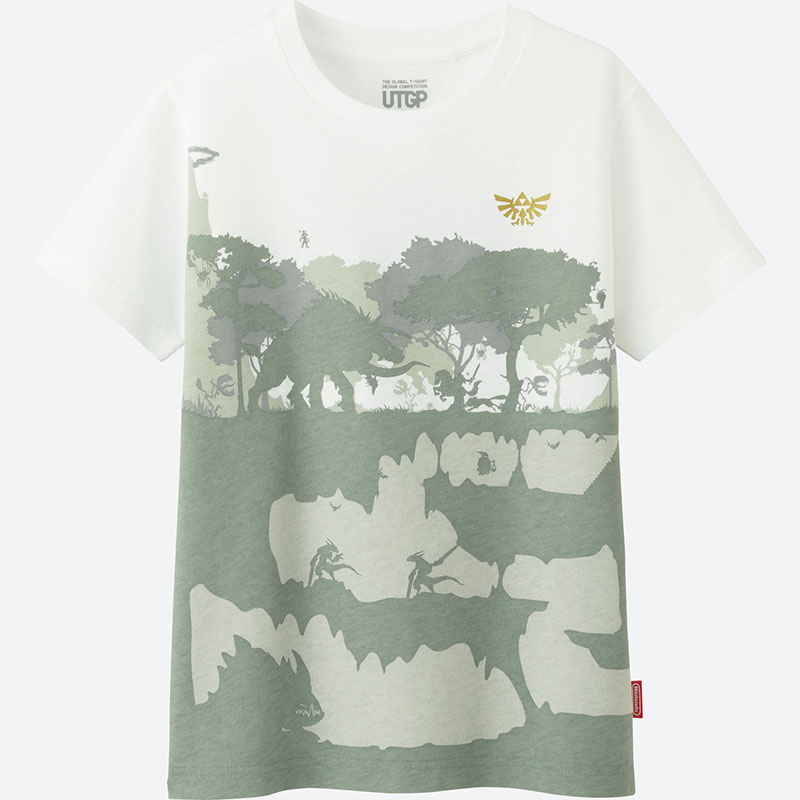 「ゼルダの伝説」ワールドをモチーフとしたTシャツは表裏それぞれ違うデザイン
