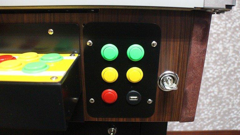 各種ボタンとUSB端子