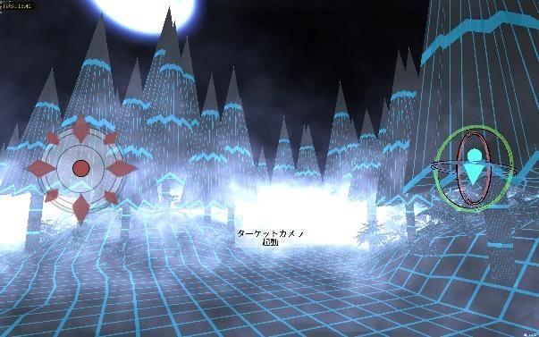 幻影の世界はオールドPCファンには懐かしい、ワイヤーフレームグラフィックスで構築される