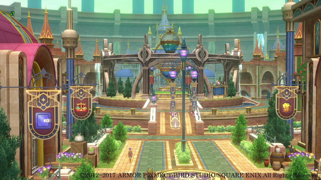 記された内容に従うことで豊かな生活を実現する「時の指針書」と、高度な「錬金術」を用い栄華を極めている都。中央にある建造物は、錬金術の粋を結集して作られた王都のシンボルだ