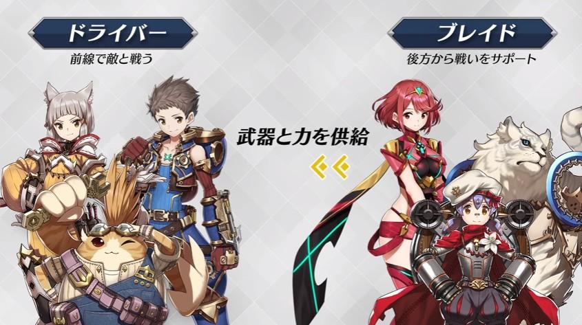 戦闘には「ブレイド」を3体まで連れていくことができ、戦闘中に切り替えることができる。