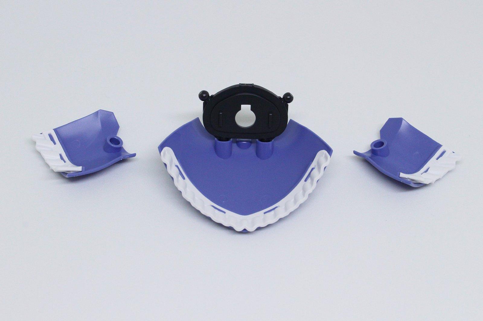スカートは前が2枚、後ろが1枚あり、ボールジョイントで接続する