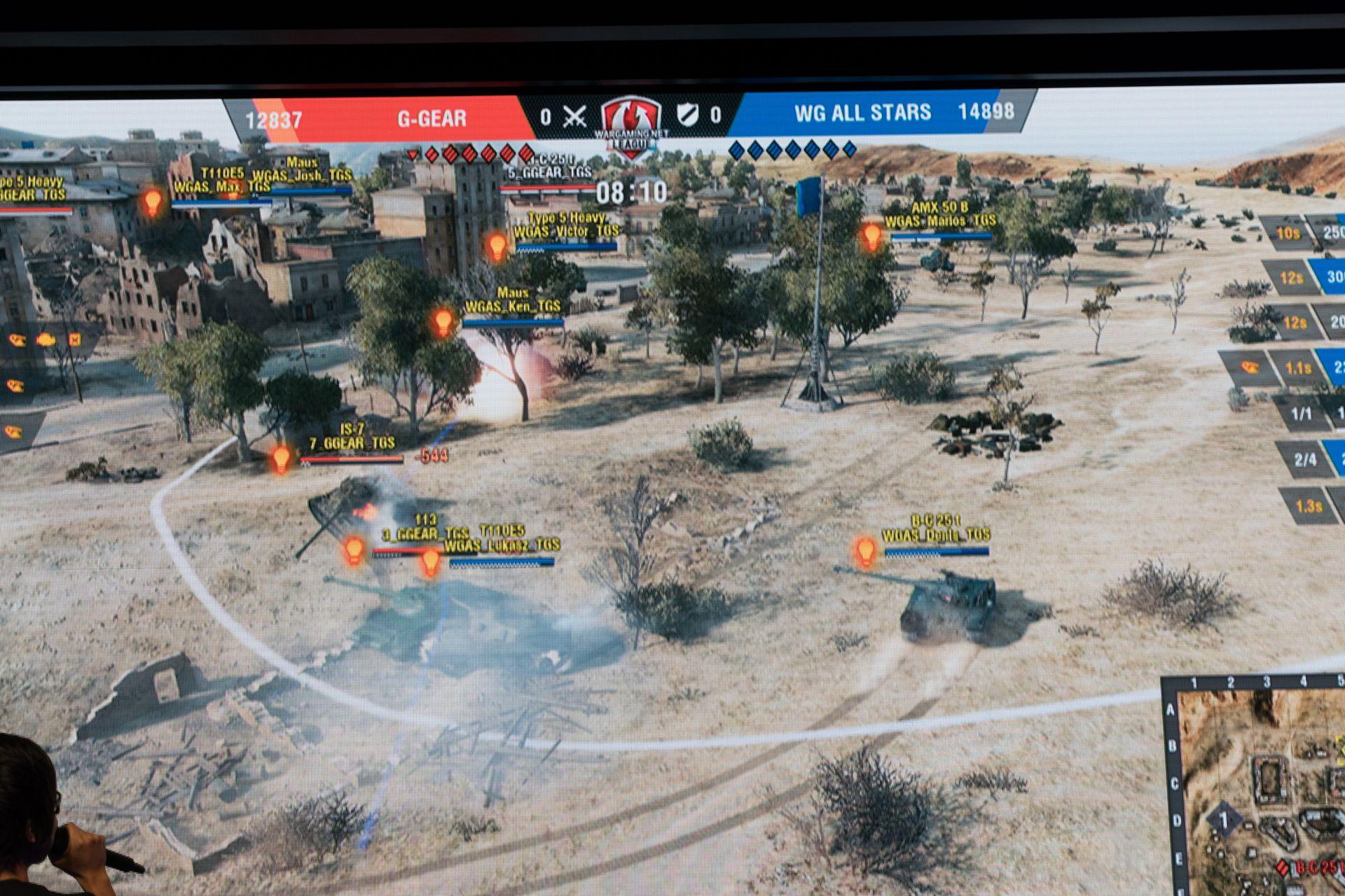 だがAll-Starsは車両の扱い方や戦況判断が異常に巧い。攻撃側G-Gearが拠点に車両を入れても、あっという間に的確な命中弾を叩き込まれゲージを戻されてしまう