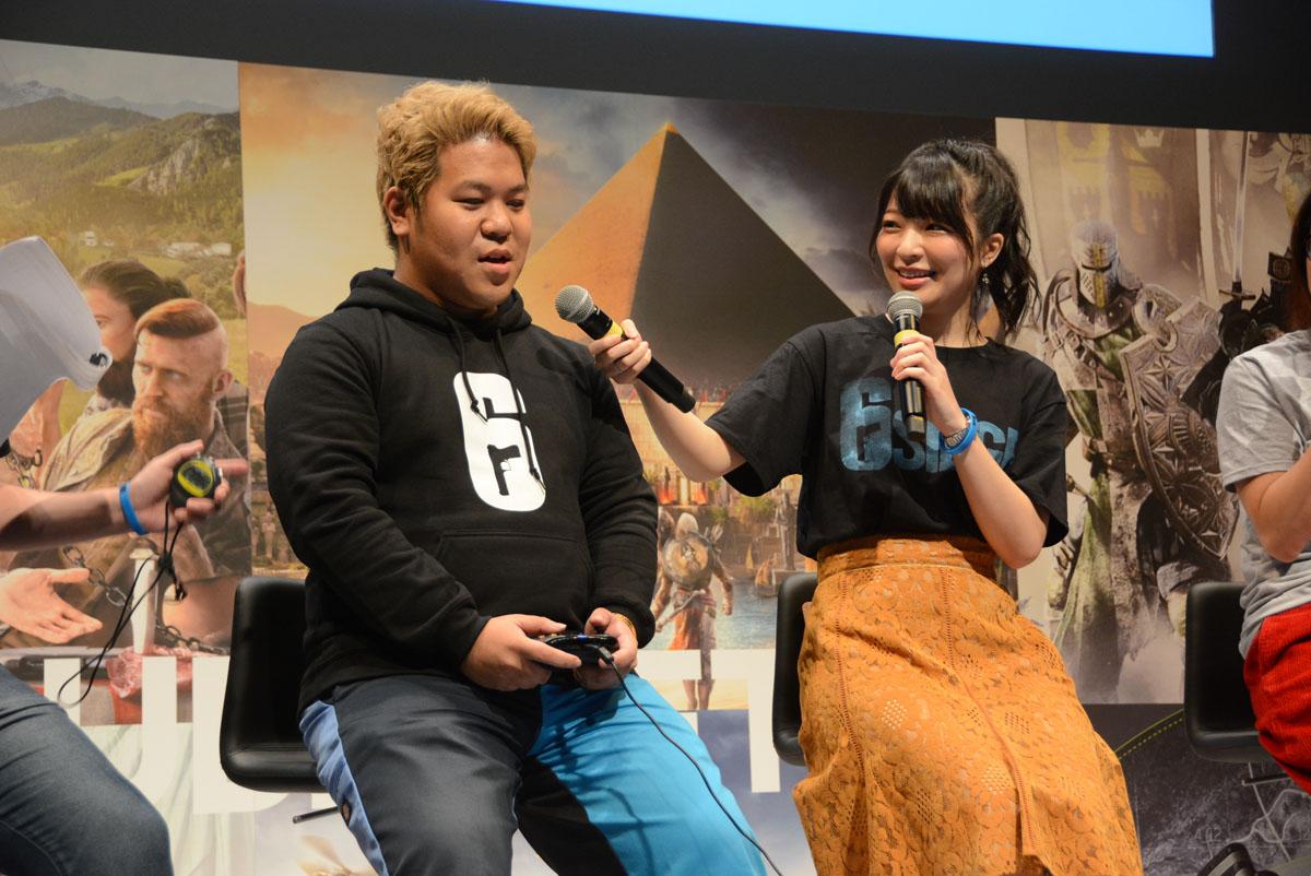 こーすけさんと、荒木美鈴さんがタイムトライアルで対決