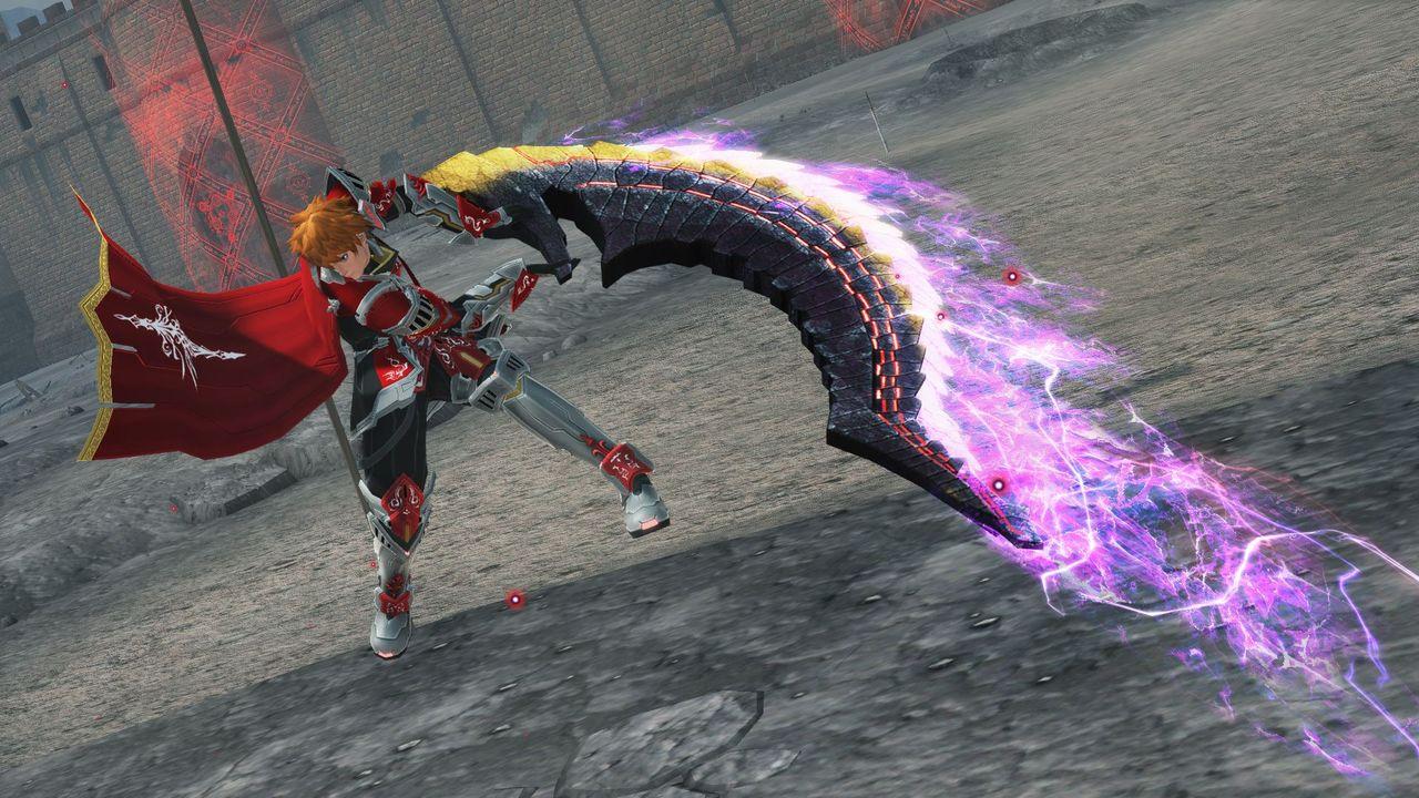 オメガ・ヒューナルの持つ鋭刃を再現した大剣。惨烈な形の刃を持ち触れるものを無情に切り裂く
