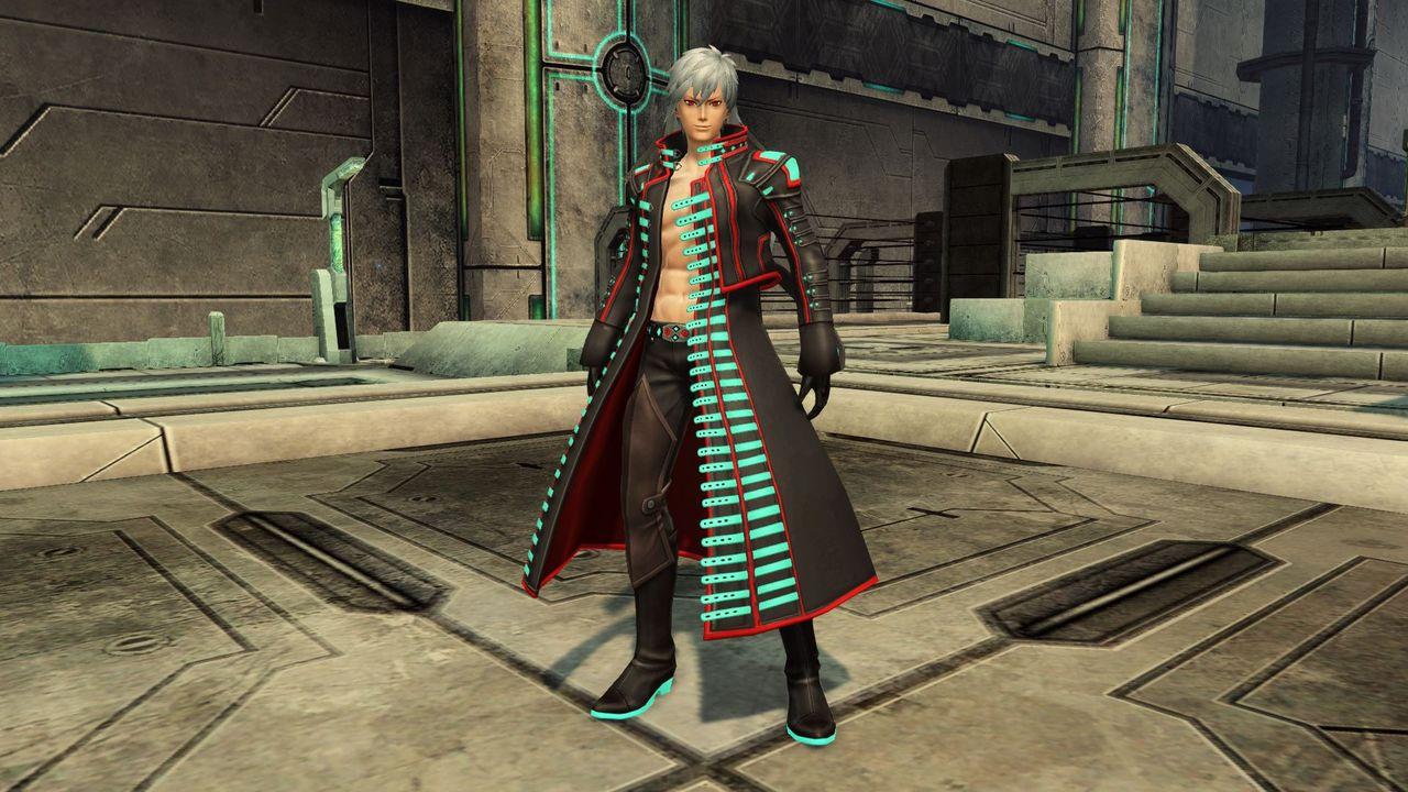長銃「アヴェンジャー」のウェポノイドの姿を模した服装。ワイルドな雰囲気漂う、漢の仕事着