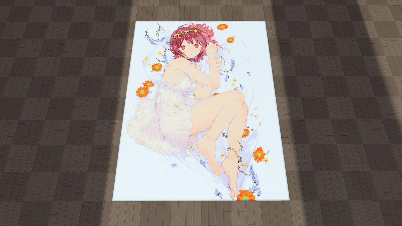 アトリエ・マットC:マイルームの床に敷くためのマット。ソフィーが描かれた大判ビジュアルマット