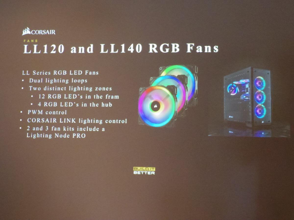 「LL120 RGB Fan」「LL140 RGB Fan」