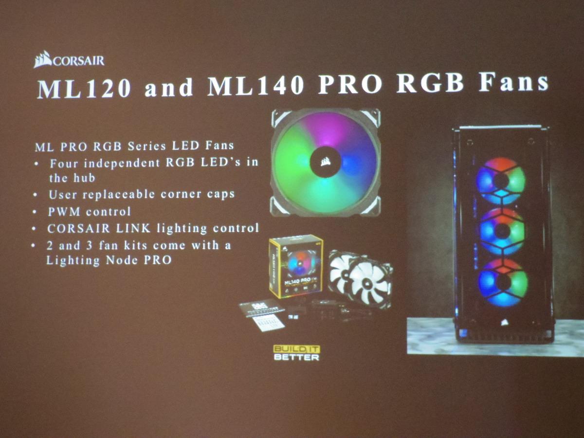 「ML120 PRO RGB Fan」「ML140 PRO RGN Fan」