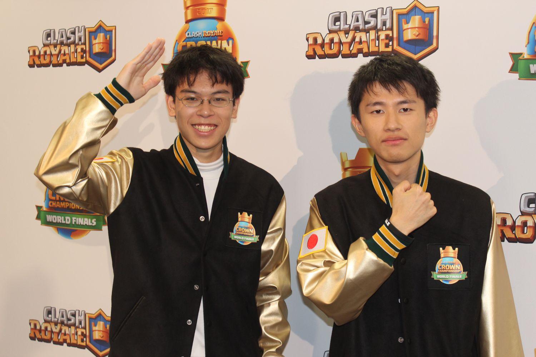 日本代表のアマテラス選手(左)、フチ選手(右)