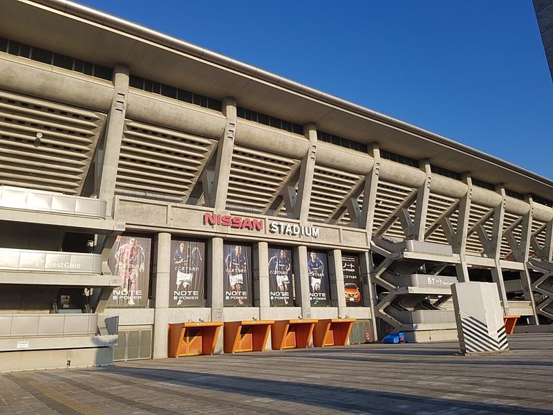 日産スタジアムにも行ってきた。横浜線小机駅にも近い