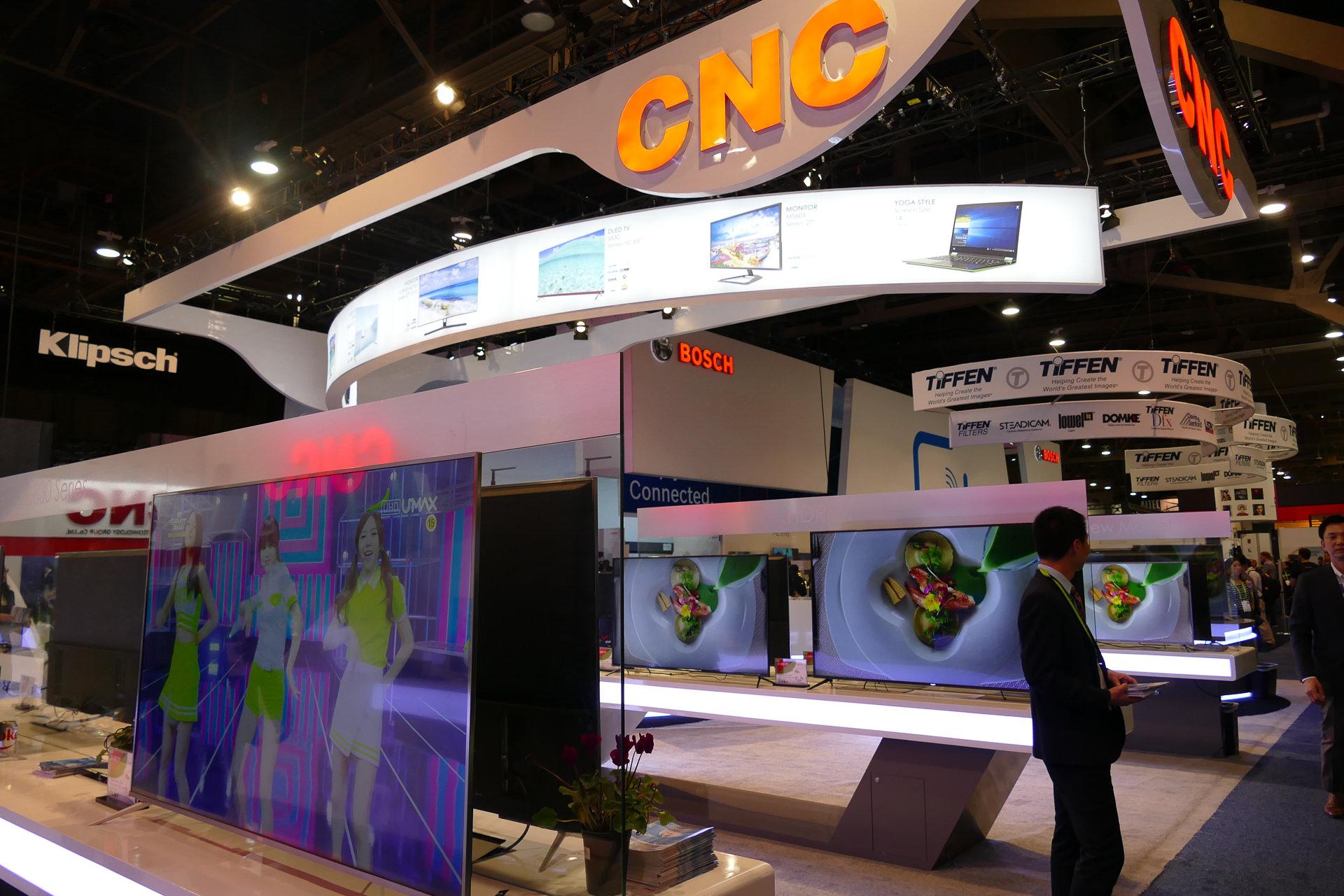 中国本土のメーカーCNCのブース。今後中国勢の台頭は必至