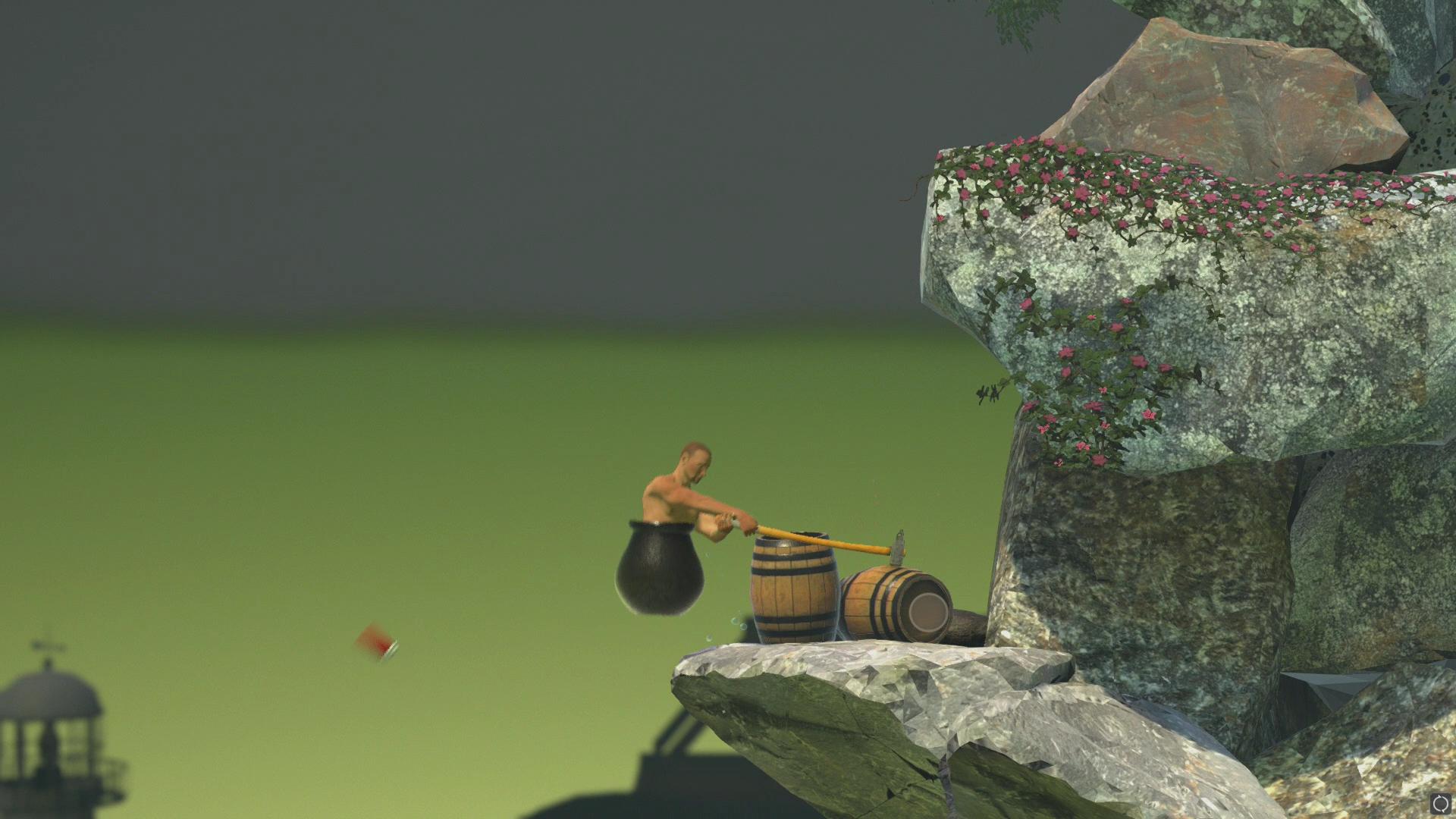 本作のオブジェクトは基本的には設置物が中心だが、たまに動くものも存在する。最初の崖の途中には謎のコーヒー用のコップがあり、ハンマーが引っかかると、弾かれて飛んでいってしまう