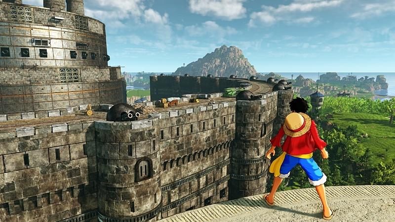 拠点の外にも、強固な石壁が佇む
