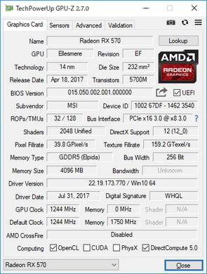 GPUに採用されているAMD Radeon RX 570