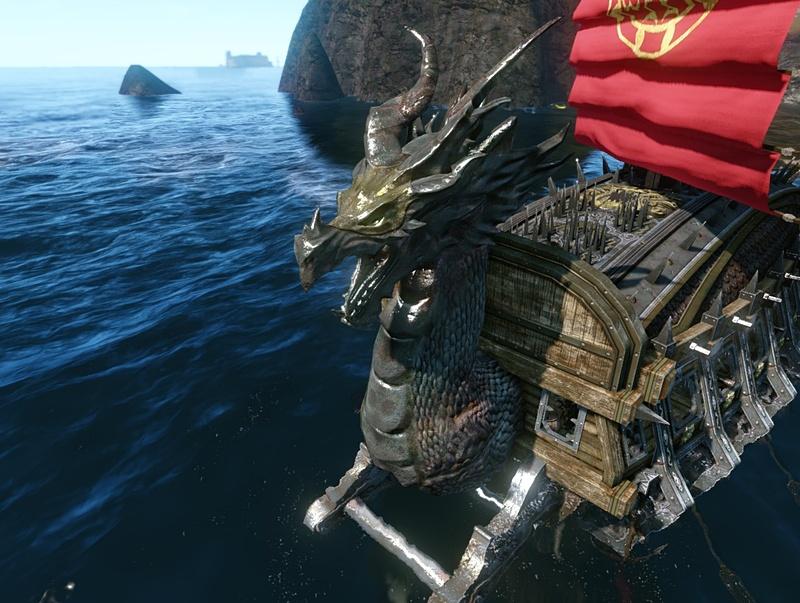 ドラゴンの船首像
