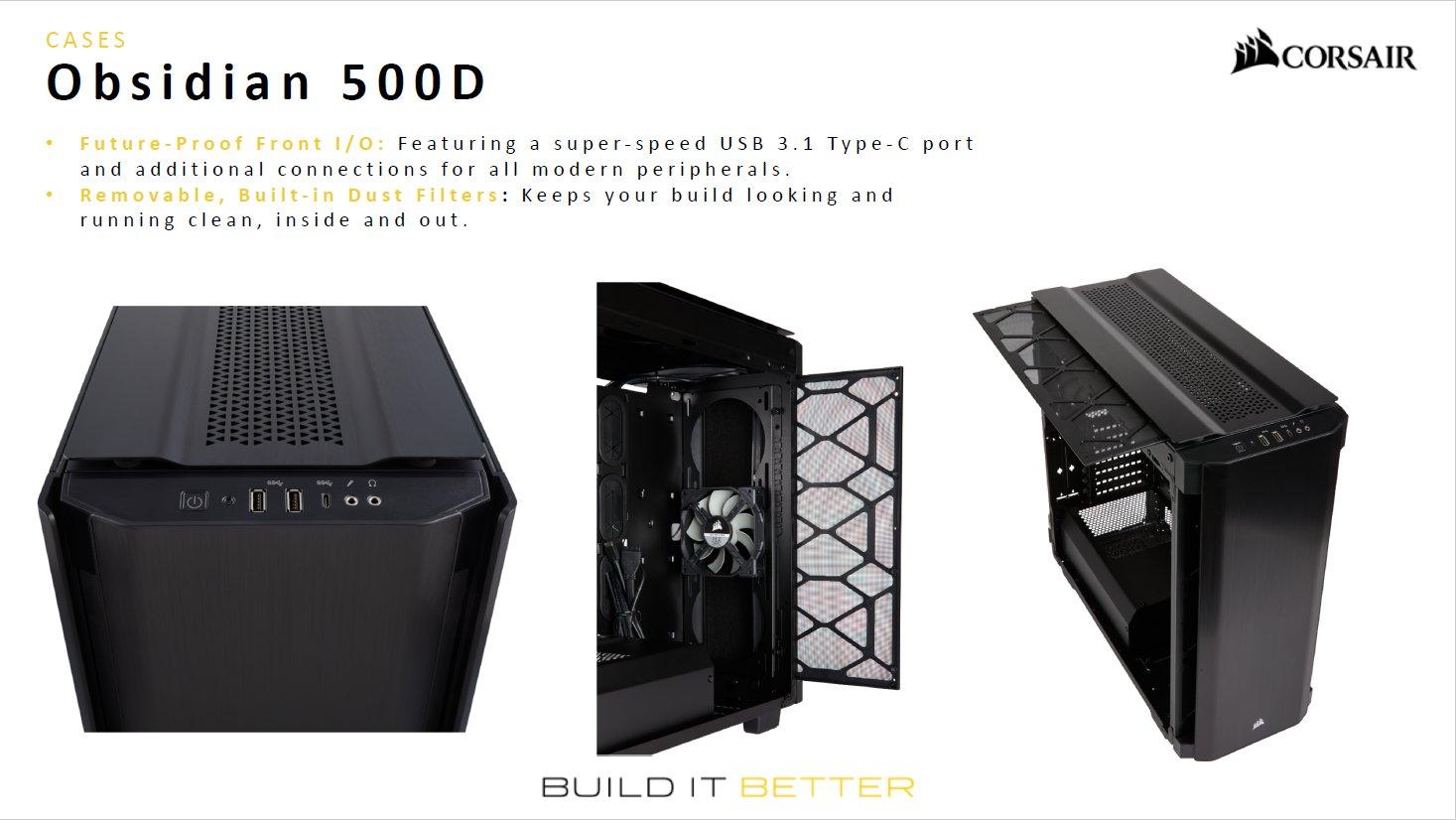 PCケース「Obsidian 500D」。日本では3月に発売され、価格は25,920円(税込)。
