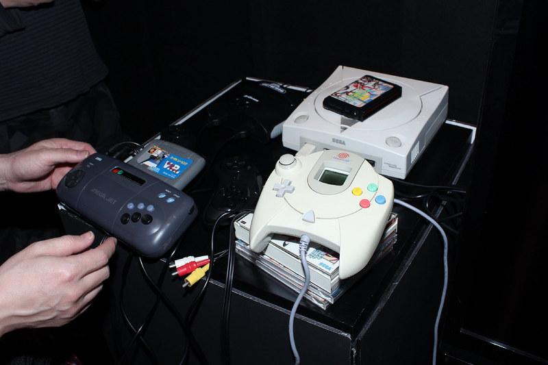 セガが発売したハードウェアも展示されていた