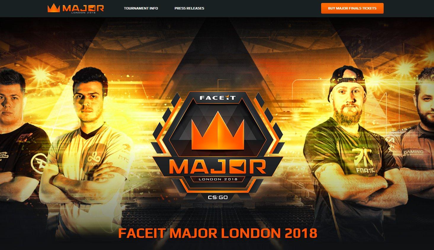 初開催となる「CS:GO」のメジャー大会「FACEIT Major 2018」