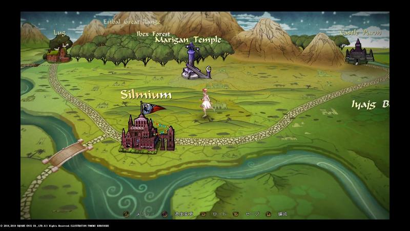 ワールドマップはまるで絵本のよう。広大な世界を冒険していくのだ