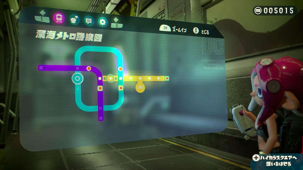 まだ序盤の路線図。ステージをクリアしていけば、新たな駅と路線が広がっていく