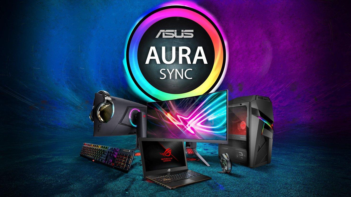 ASUS独自のライトシンクシステム「AURA SYNC」