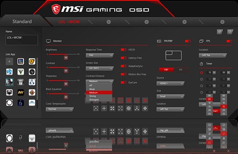 対応ゲームタイトルと連動して、ディスプレイ側から直接ゲーム内の情報を表示させる「Gaming OSD」