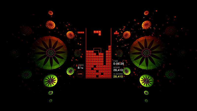 上は通常のプレイ中だが、「ゾーン」を発動すると下のようにビジュアルやサウンドが一変する