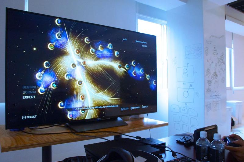 「ストーリーモード」の選択画面。画面はエキスパートモードでステージは30以上。また、難易度別に異なるステージ選択画面がある