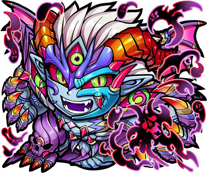 """<strong class=""""em """">★6 悪魔神・ウラミ(進化後)</strong><br />デッキの「闇属性」の数によりATKアップ!「悪魔神」の名にふさわしい攻撃力で敵を圧倒する"""
