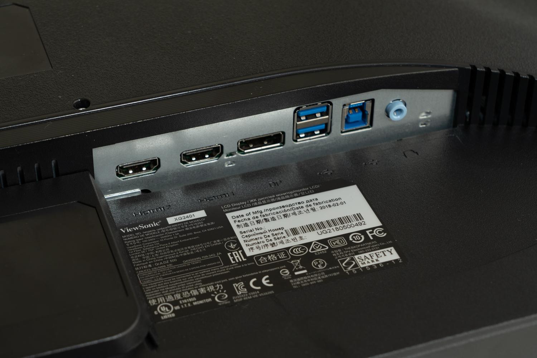 入力端子はDisplayPort 1.2×1とHDMI 1.4×2