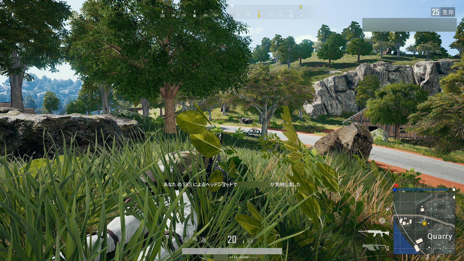 倒せる見込みのある距離で先に敵を見つけて、倒しきるまで弾を当てられるかどうかは、スクアッドを遊ぶ上でも重要な要素だ