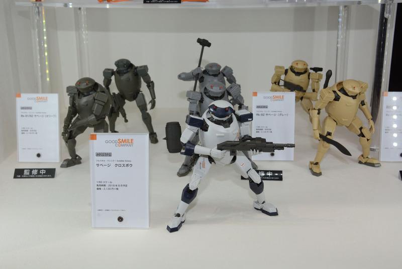 巨大美少女ロボ「エリアル」や、組み立て式ロボフィギュア「MODEROID サベージ」など、グッスマはロボのアプローチもユニークだ