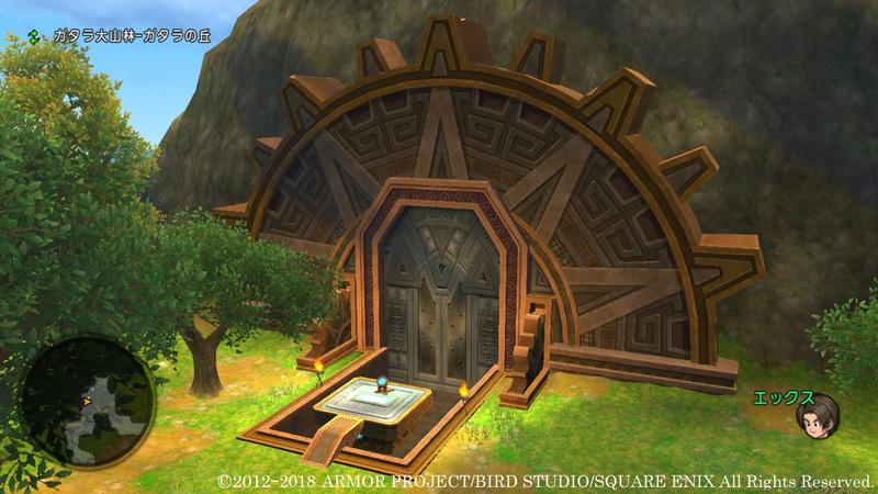 ガタラ大山林の奥深くにウルベア地下帝国へ続く門がある