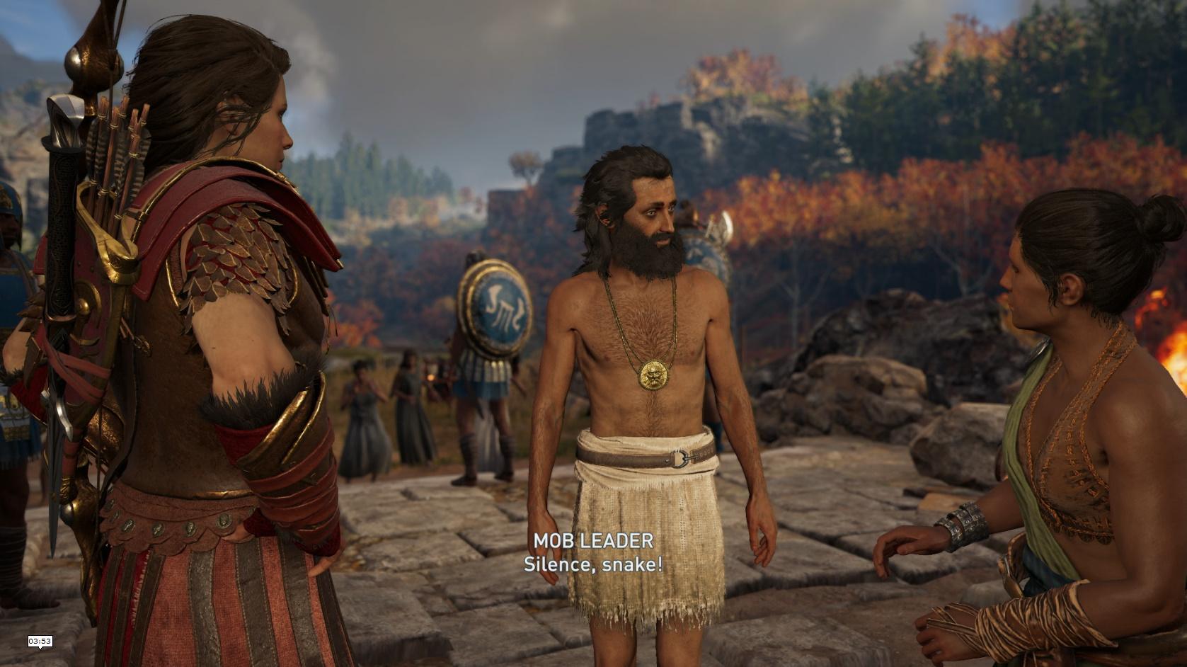 男たちはBryceが村に呪いをかけたという