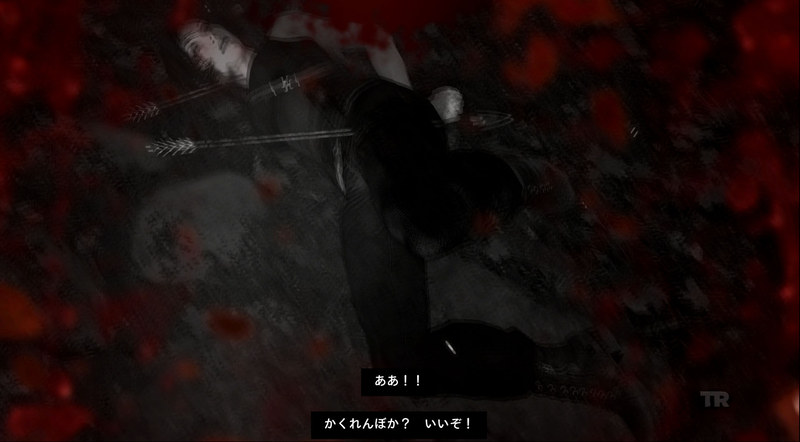 矢に撃たれたり、喉に杭が突き刺さったり、クマに食われたり……ヒロインとは思えないほどエグイ死に方のムービーが用意されている