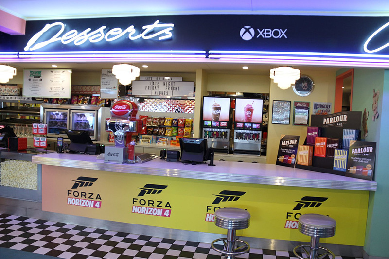 すっかり「Forza Horizon 4」仕様となったダイナー