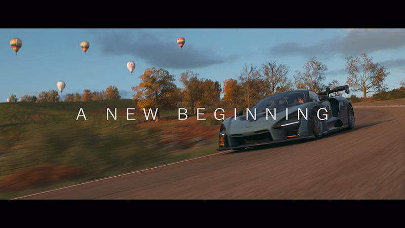 ドラマティックなオープニング映像の後、曲面ワイドモニターの中にMcLaren Sennaがダイブインしていく。最初の実績は「Welcome to Britain」