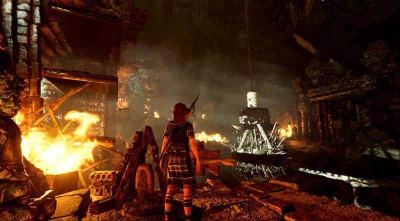 「轟きの洞窟」は炎が絶えない洞窟で、落ちれば地下に住む動物に食い殺される、地獄のようなトゥーム。風が大きな手がかりとなる