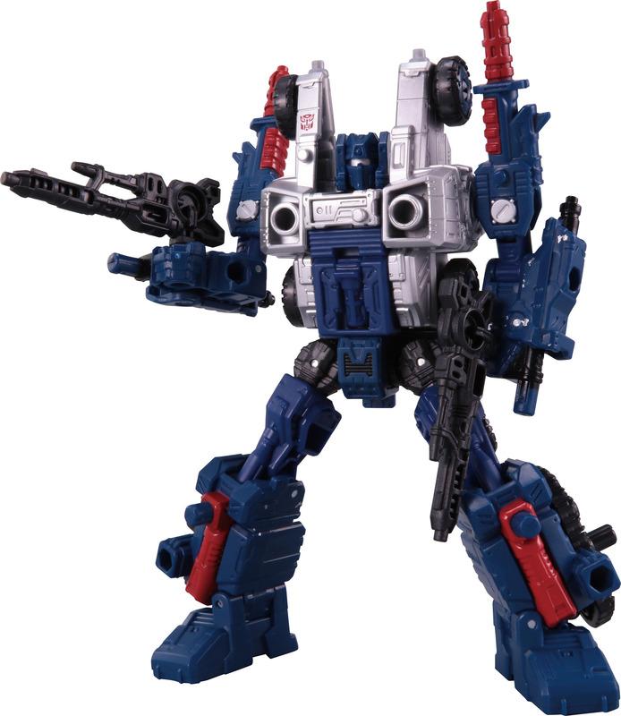 価格3,500円(税別)。オートボットコグのサイバトロン星での姿を再現した変形フィギュア。ロボットから車型のビークルに変形するだけでなく、分離して武器になり、大型のトランスフォーマーに持たせることができる