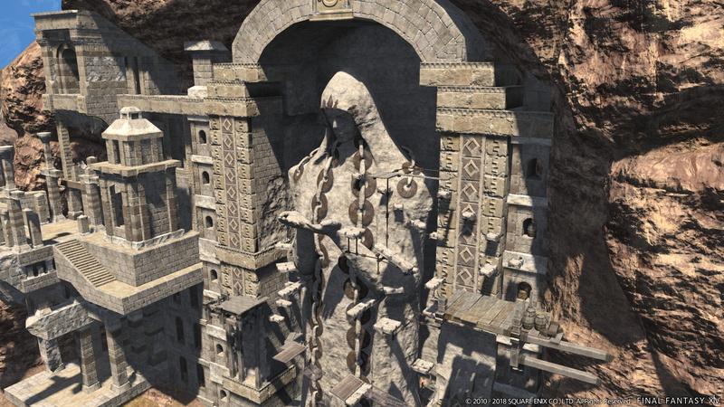 ウルダハにあるシラディハ遺跡がアトラクションの舞台となる