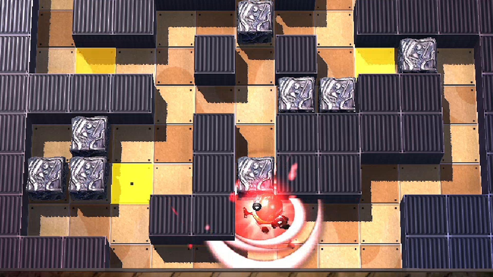 ため押しでも強力なプッシュが繰り出せる。他のブロックもガンガン壊しながら突き進もう