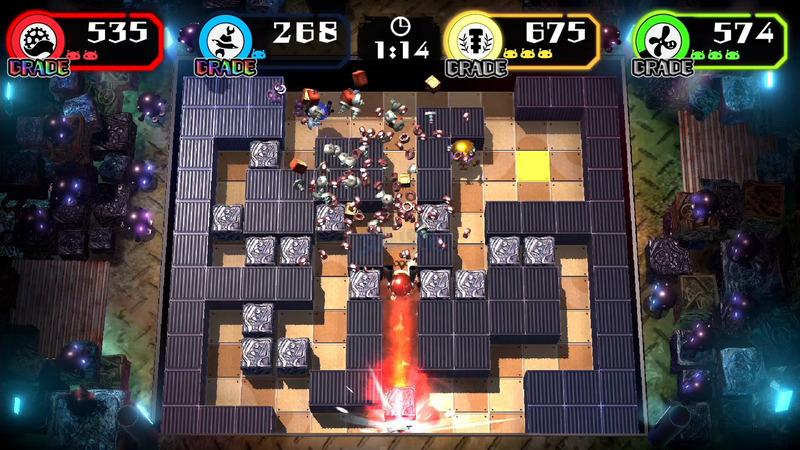 ボタン長押しによる強化攻撃もあり、この時ブロックは壁にぶつかるまで飛んでいく。奇襲攻撃などに使える要素だ