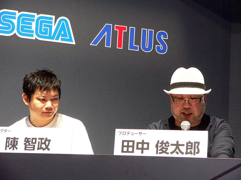 セガゲームスの田中俊太郎プロデューサー(右)と陳智政ディレクター(右)